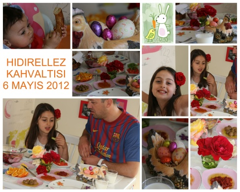 Soğan Kabuğu ve şerbet boyası ile boyanan yumurtalar, anneannenin hıdırellez yumurtalarına benzemeyince modernize desenli yumurtalara çevrilir:)