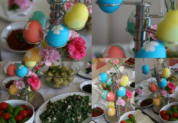 Boyalı yumurtalarımız..